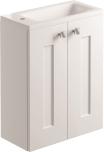 500mm 2 Door Cloakroom/Vanity Unit Wall Mounted