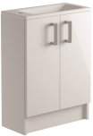 500mm 2 Door Cloakroom/Vanity Unit Floorstanding