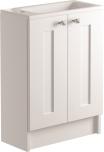 500mm 2 Door Cloakroom/Vanity Unit Floorstanding
