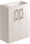 500mm 2 Door Cloakroom/Vanity Unit Wall Mounted