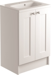 600mm 2 Door Vanity Unit Floorstanding