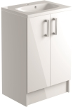 600mm 2 Door Vanity Unit Floorstanding