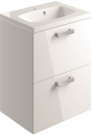 600mm 2 Drawer Vanity Unit Wall Mounted