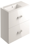 900mm 2 Drawer Vanity Unit Wall Mounted
