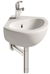 Corner Cloakroom Basin with Bottle Trap