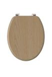 Modern Wood Effect Toilet Seat Light Oak