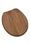 Modern Wood Effect Toilet Seat Walnut